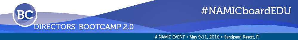 NAMIC Directors' Boot Camp 2.0