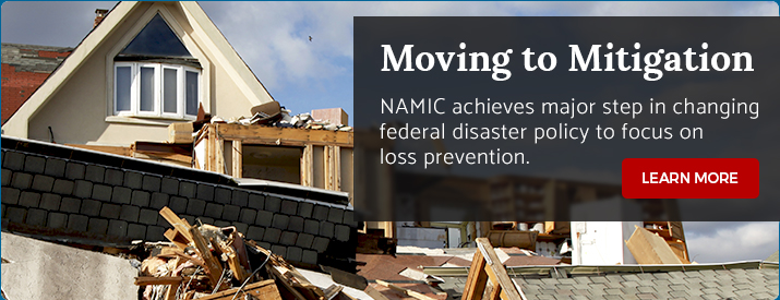 NAMIC achieves major step in changing federal disaster policy to focus on loss prevention.